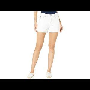 AG White Cut Off Jean Shorts